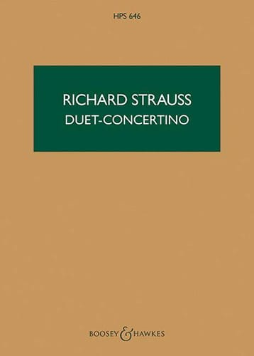Richard Strauss - Duet-Concertino - Score - Partition - di-arezzo.co.uk