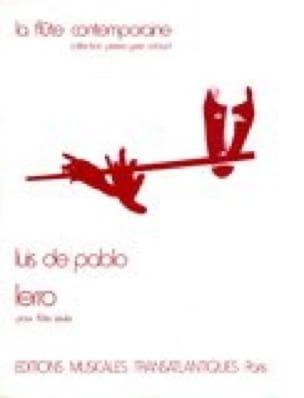 Lerro - Flûte seule - Luis de Pablo - Partition - laflutedepan.com