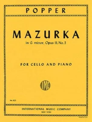 David Popper - Mazurka en G Minor op. 11 n ° 3 - Partition - di-arezzo.es