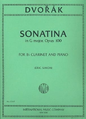 Sonatina in G major op. 100 - Clarinet - DVORAK - laflutedepan.com