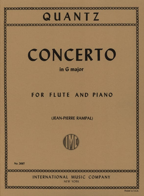 Concerto in G major QV 5: 174 - Flute piano - laflutedepan.com