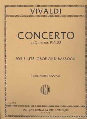 Concerto in G minor RV 103 - Flute oboe bassoon - laflutedepan.com