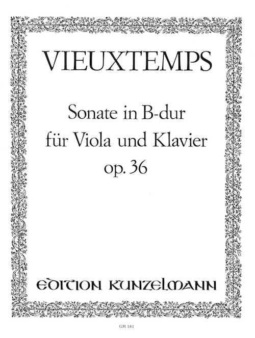Henri Vieuxtemps - Sonata en B Duro op. 36 - Partition - di-arezzo.es