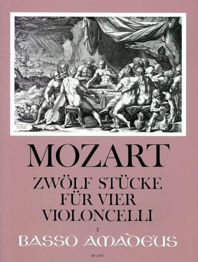 MOZART - Zwölf Stücke für vier Violoncelli - Partition - di-arezzo.fr