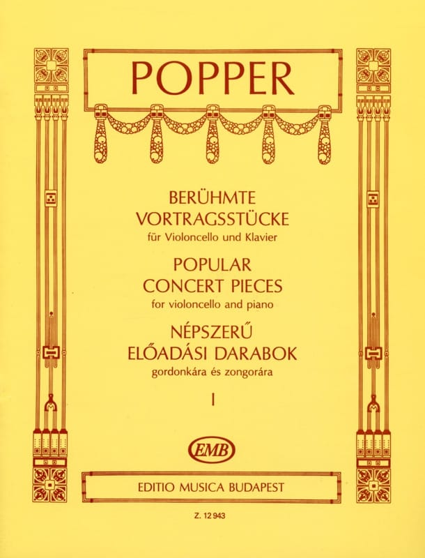 David Popper - Popular Concert Pieces Volume 1 - Partition - di-arezzo.co.uk