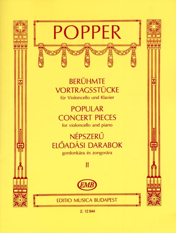 David Popper - Popular Concert Pieces Volume 2 - Cello - Partition - di-arezzo.co.uk