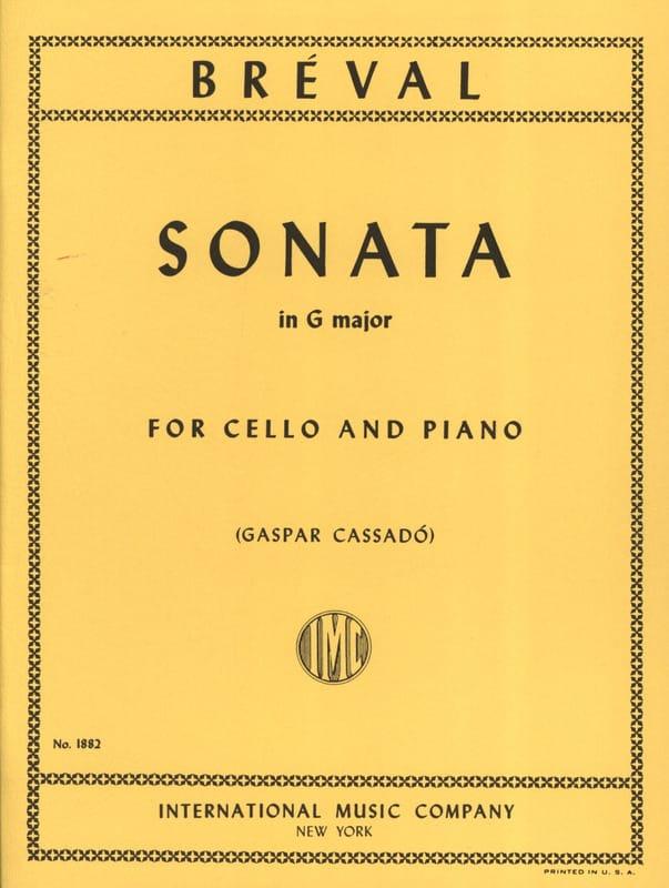 Sonate en SOL Majeur - Jean-Baptiste Bréval - laflutedepan.com