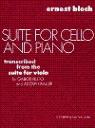 Ernest Bloch - Suite para violonchelo y piano - Partition - di-arezzo.es