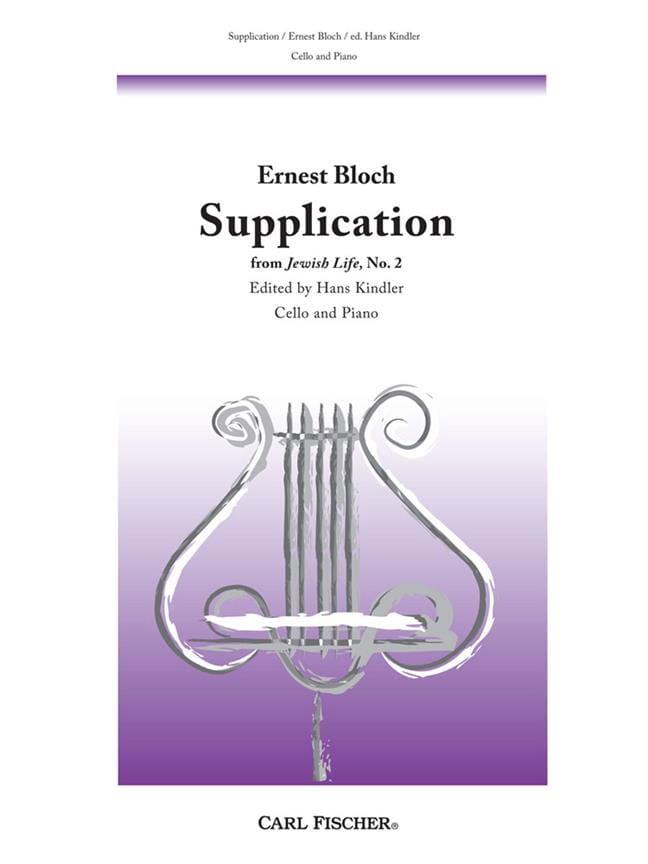 Supplication - BLOCH - Partition - Violoncelle - laflutedepan.com