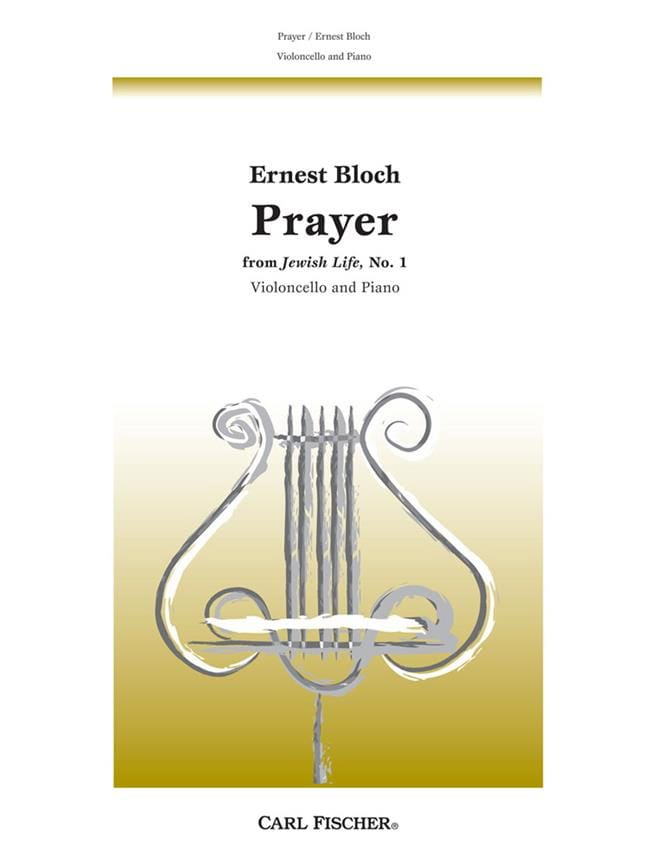 Prayer - Violoncelle - Ernest Bloch - Partition - laflutedepan.com