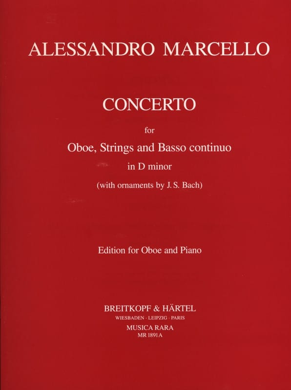 Alessandro Marcello - Concerto in D Minor - Partition - di-arezzo.co.uk