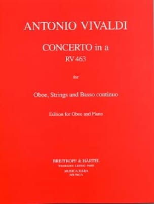 VIVALDI - Concerto in minor RV 463 F. 7 No. 13 - Oboe piano - Partition - di-arezzo.co.uk