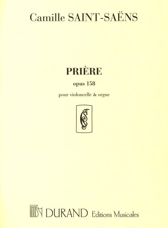 Prière op. 158 - SAINT-SAËNS - Partition - laflutedepan.com