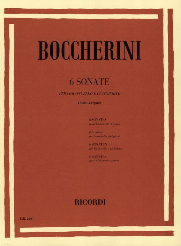 BOCCHERINI - 6 Sonatas - Partition - di-arezzo.co.uk