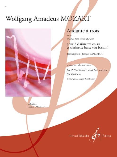 Andante à trois KV 547 - Clarinettes - MOZART - laflutedepan.com