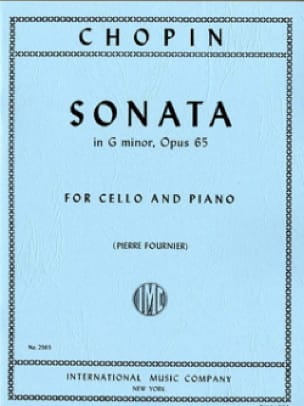 CHOPIN - Sonata in G Minor, op. 65 - Partition - di-arezzo.com