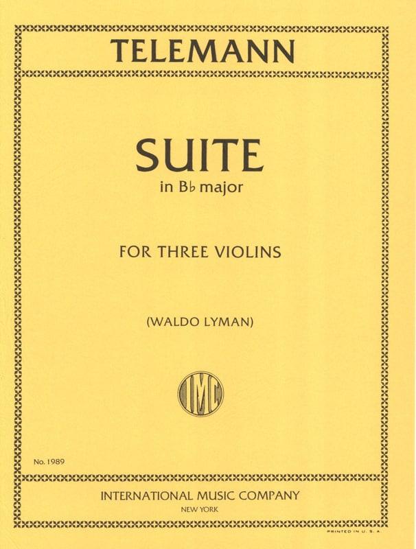 TELEMANN - Suite en si bémol majeur pour 3 violons - Partition - di-arezzo.fr