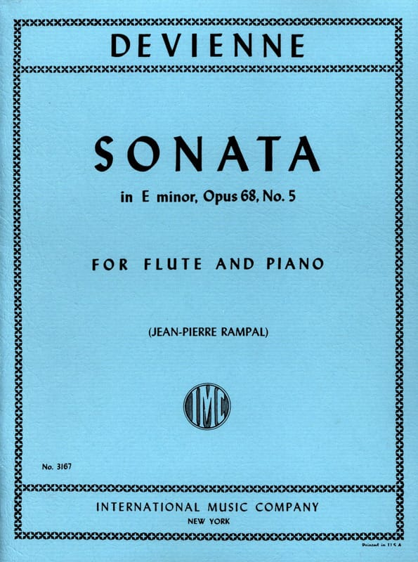François Devienne - Sonata in E minor op. 68 n ° 5 - Piano flute - Partition - di-arezzo.co.uk