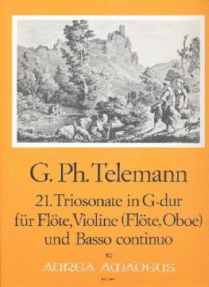 TELEMANN - Triosonate Nr. 21 G Dur - Flute Violine Oboe, Flute u. Bc - Partition - di-arezzo.com