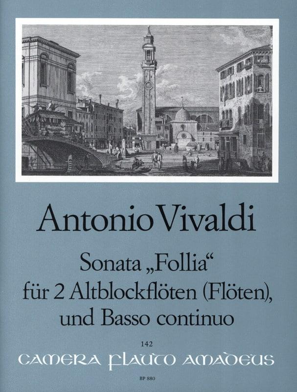 VIVALDI - Sonata Follia - 2 Altblockflöten Flöten BC - Partition - di-arezzo.es