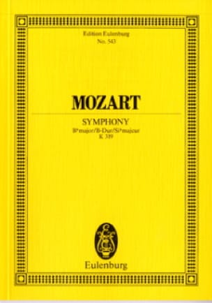 Symphonie B-Dur Kv 319 - Partitur - MOZART - laflutedepan.com
