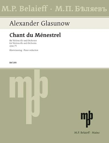 Alexandre Glazounov - Song of the Menestrel op. 71 - Partition - di-arezzo.co.uk