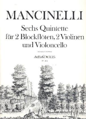 6 Quintette -2 Blockflöten 2 Violinen Cello - Partitur + Stimmen - laflutedepan.com
