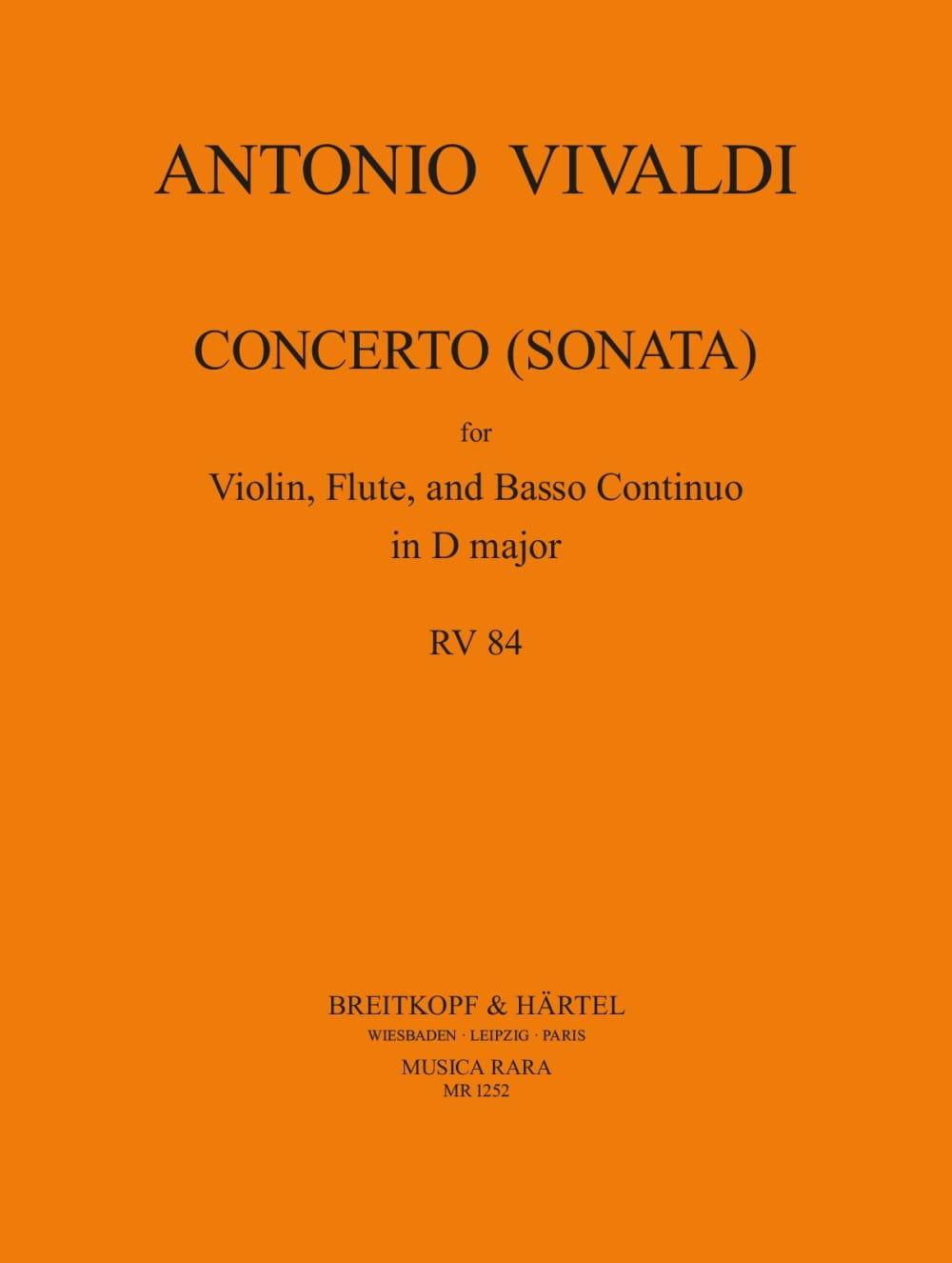 Concerto Sonata D major F. 12 N° 43 RV 84 - VIVALDI - laflutedepan.com