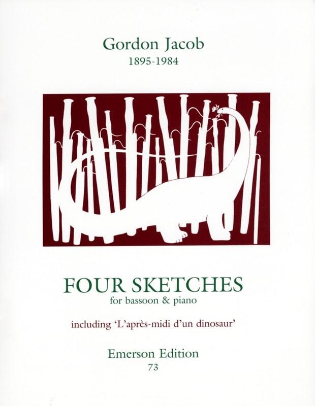 4 Sketches - Gordon Jacob - Partition - Basson - laflutedepan.com