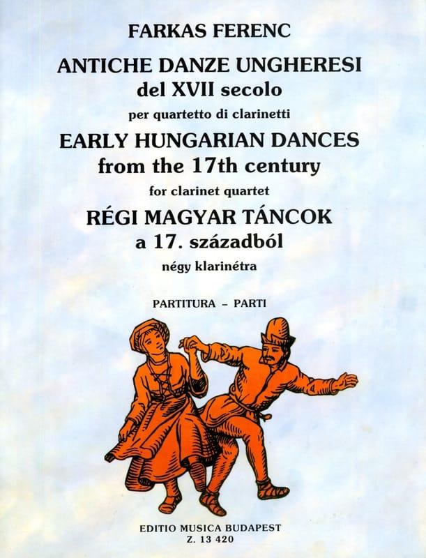 Antiche danze ungheresi - Quartetto clarinetti - Partitura + Parti - laflutedepan.com