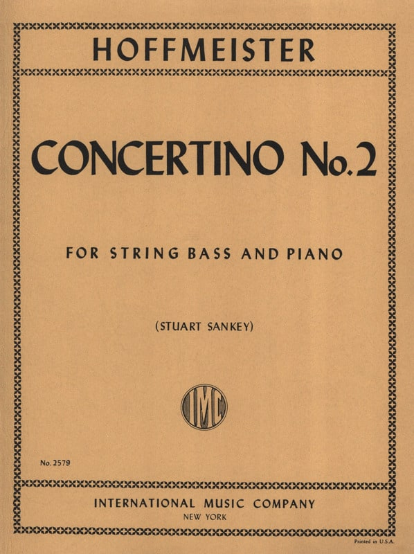 Franz Anton Hoffmeister - Concertino n ° 2 - String bass - Partition - di-arezzo.com