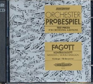 Kolbinger Karl / Rinderspacher Alfred - Orchester-Probespiel - Fagott / Kontrafagott - Partition - di-arezzo.es