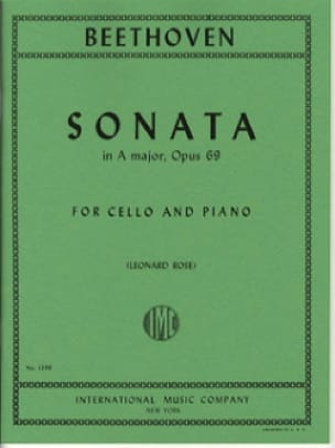 BEETHOVEN - Sonata in A Major op. 69 - Partition - di-arezzo.co.uk