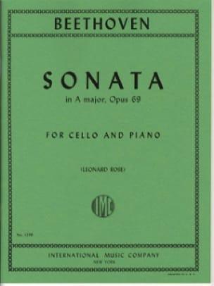 BEETHOVEN - Sonata in A Major op. 69 - Partition - di-arezzo.fr
