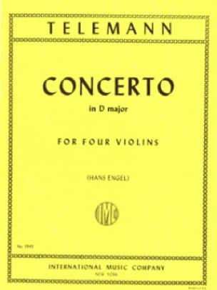 TELEMANN - Concerto in D major TWV 40: 202 - Partition - di-arezzo.co.uk