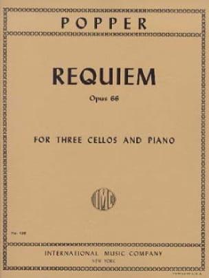 David Popper - Requiem op. 66 - 3 Cellos Piano - Parts - Partition - di-arezzo.co.uk