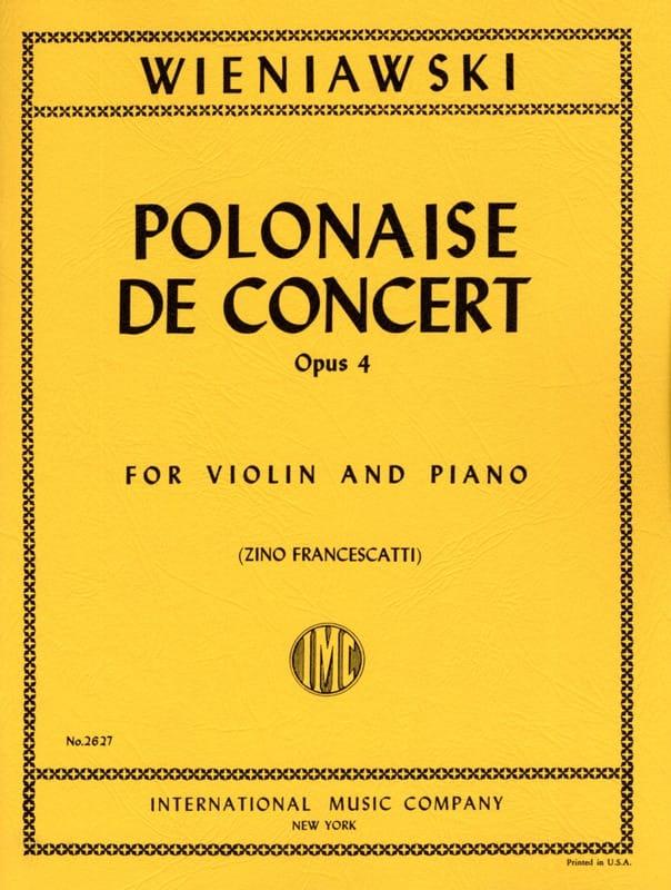 WIENIAWSKI - Concierto polaco Op. 4 En Re Mayor - Partition - di-arezzo.es