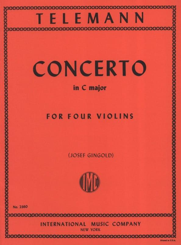 TELEMANN - Concerto In C Major For 4 Violins Twv40: 203 - Partition - di-arezzo.co.uk