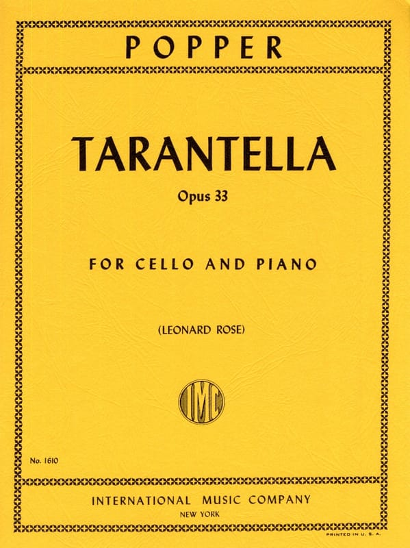 David Popper - Tarantella op. 33 - Partition - di-arezzo.co.uk