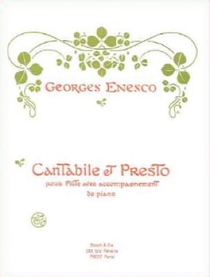 Georges Enesco - Cantabile and Presto - Partition - di-arezzo.com