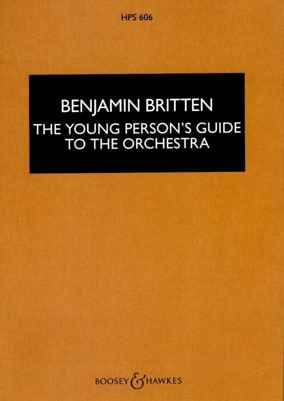 Benjamin Britten - The young person's guide to the orchestra - Score - Partition - di-arezzo.com