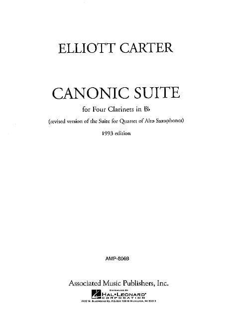Canonic Suite - Score + Parts - Elliott Carter - laflutedepan.com