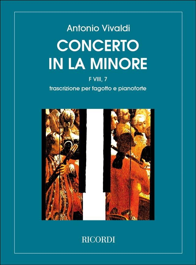 VIVALDI - Concerto in the min. - F. 8 n ° 7 - Bassoon / Piano - Partition - di-arezzo.co.uk