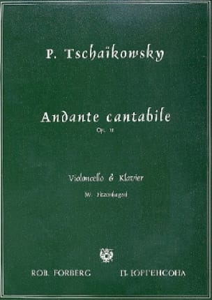 TCHAIKOVSKY - Andante Cantabile Op. 11 - Partition - di-arezzo.co.uk
