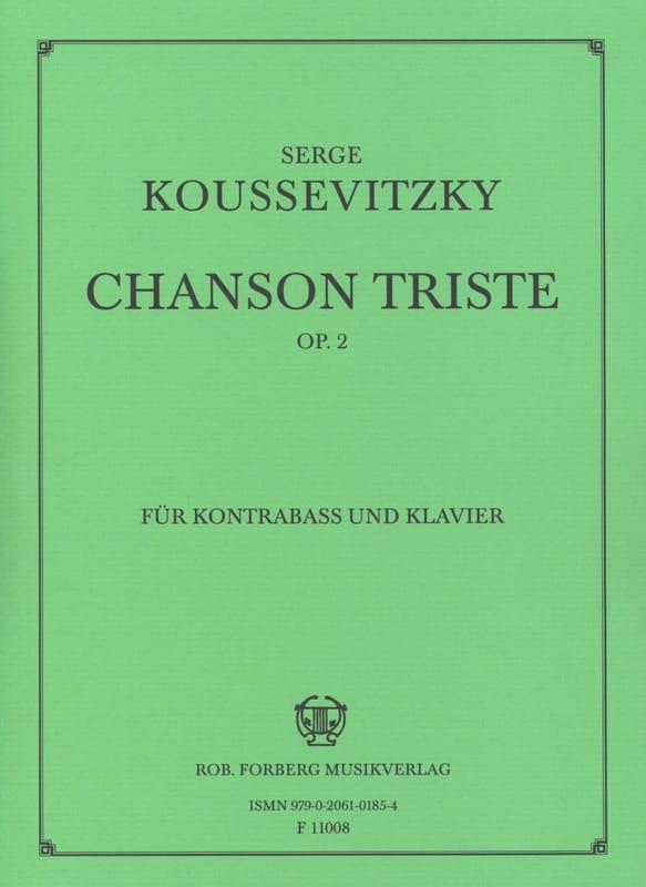 Serge Koussevitzky - Sad song op. 2 - Partition - di-arezzo.co.uk