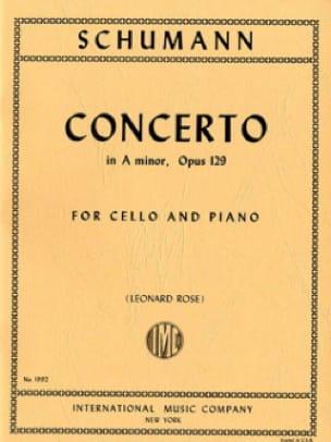 SCHUMANN - Cello Concerto in A minor op. 129 - Partition - di-arezzo.co.uk