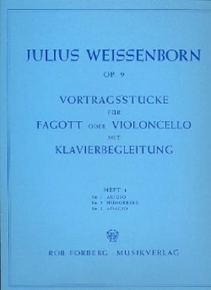 Julius Weissenborn - Vortragsstücke op. 9 - Heft 1 - Partition - di-arezzo.co.uk