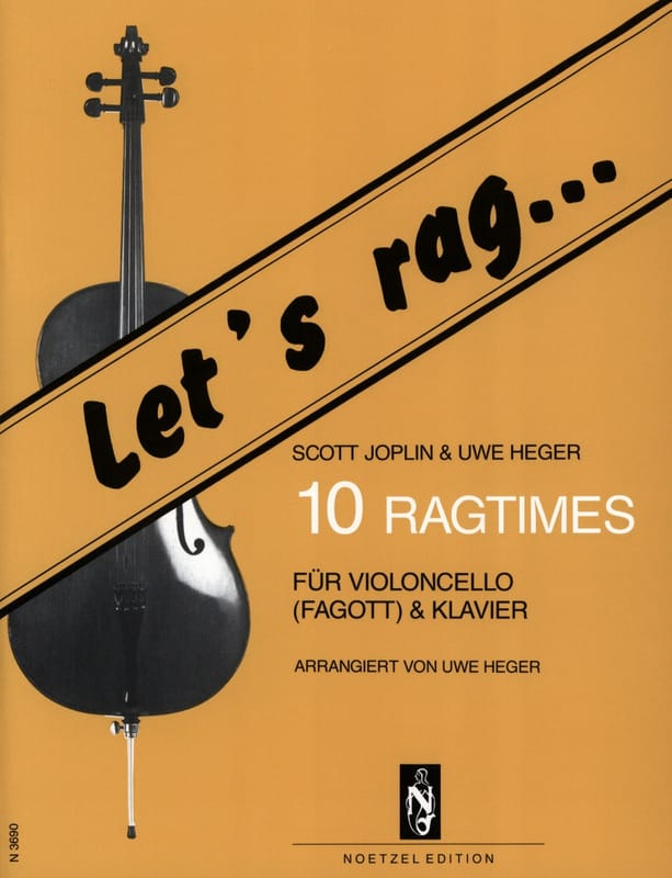 Joplin Scott / Heger Uwe - Let's Rag - 10 Ragtimes - Cello - Partition - di-arezzo.co.uk