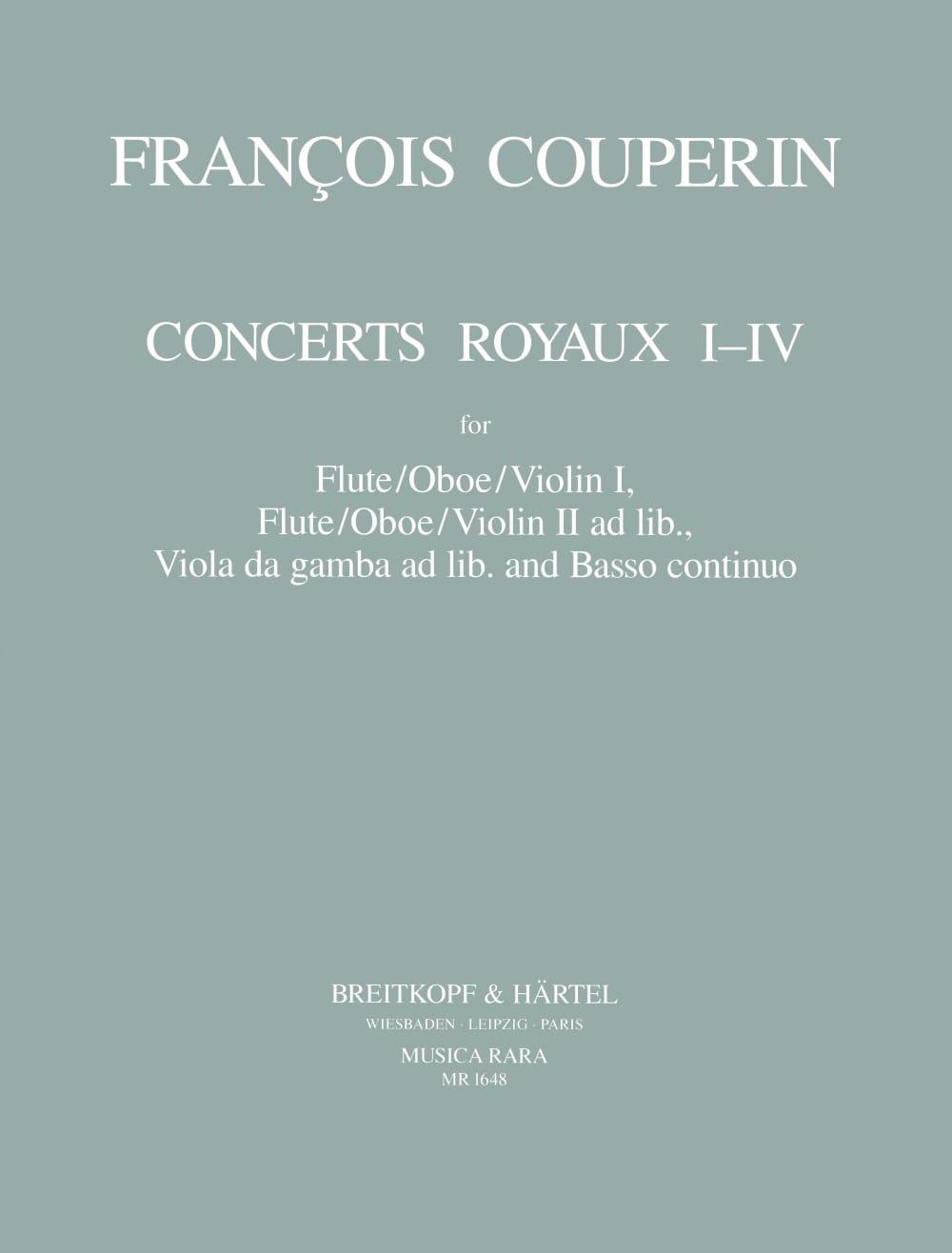 François Couperin - Royal Concerts No. 1-4 - Partition - di-arezzo.co.uk