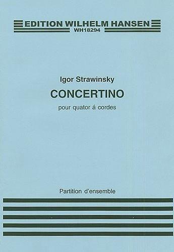 Concertino for string quartet - Score - STRAVINSKY - laflutedepan.com